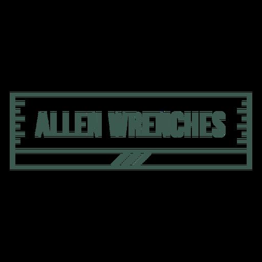Allen wrenches label stroke