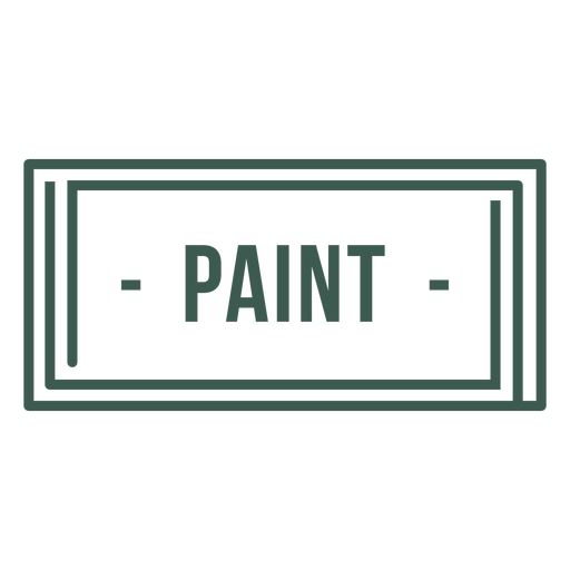 Paint label stroke