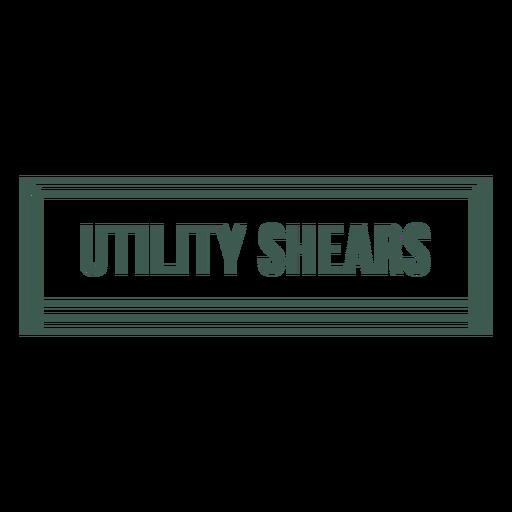 Utility shears tool label stroke