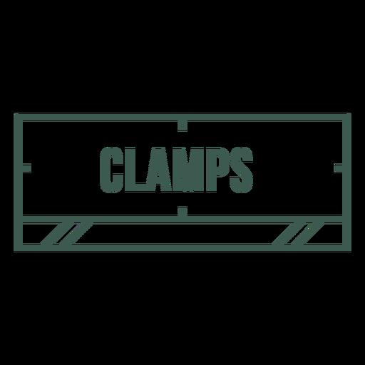 Clamps label stroke