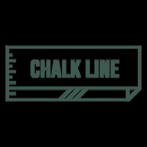 Chalk line label stroke