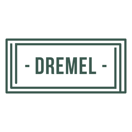 Dremel label stroke