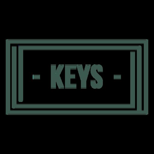 Keys label stroke