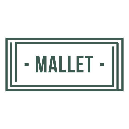 Mallet label stroke