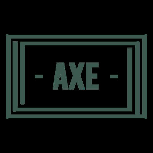 Axe label stroke