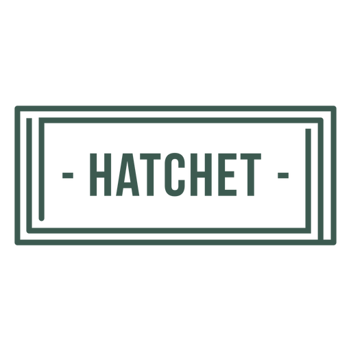 Hatchet label stroke