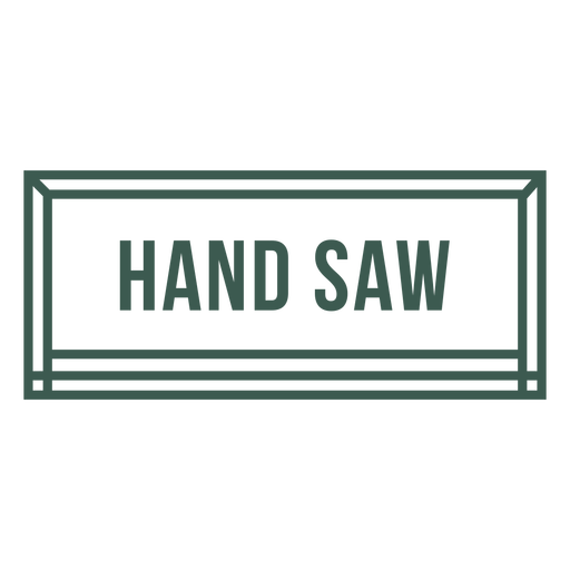 Hand saw tool label stroke