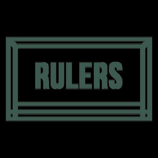Rulers tool label stroke