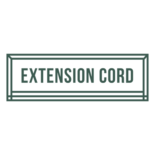 Extension cord tool label stroke