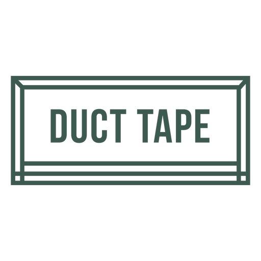 Duct tape label stroke