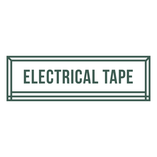 Electrical tape label stroke