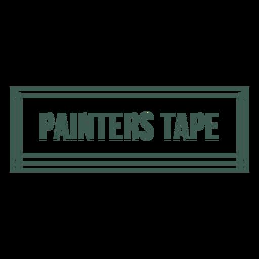 Painters tape label stroke