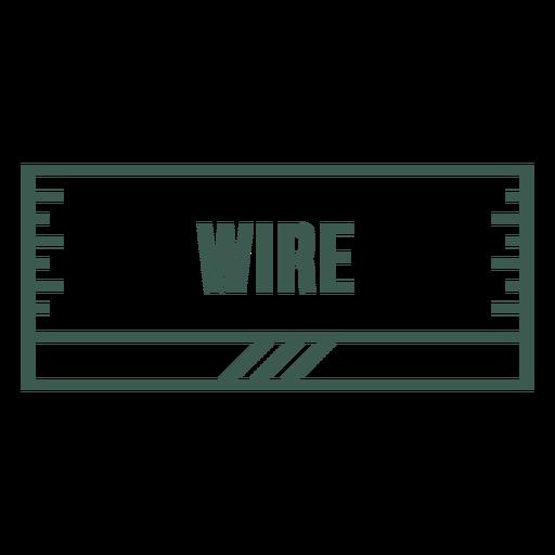 Wire label stroke