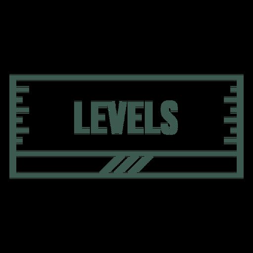 Levels label stroke