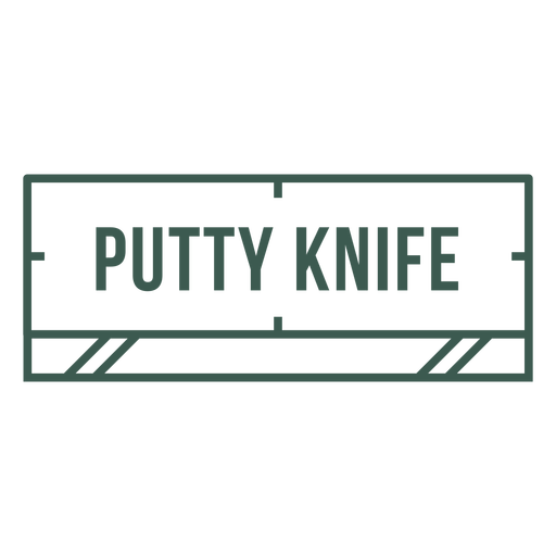 Putty knife label stroke
