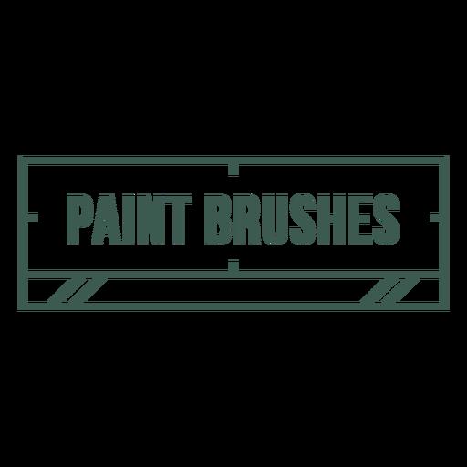 Pain brushes label stroke