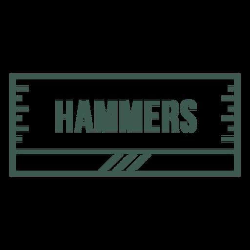 Hammers label stroke