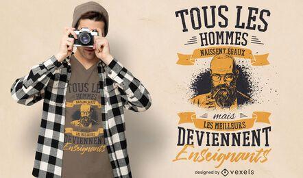 Design de t-shirt com citação de francês
