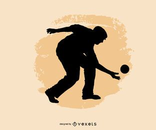 Sport bocce player people silhouette