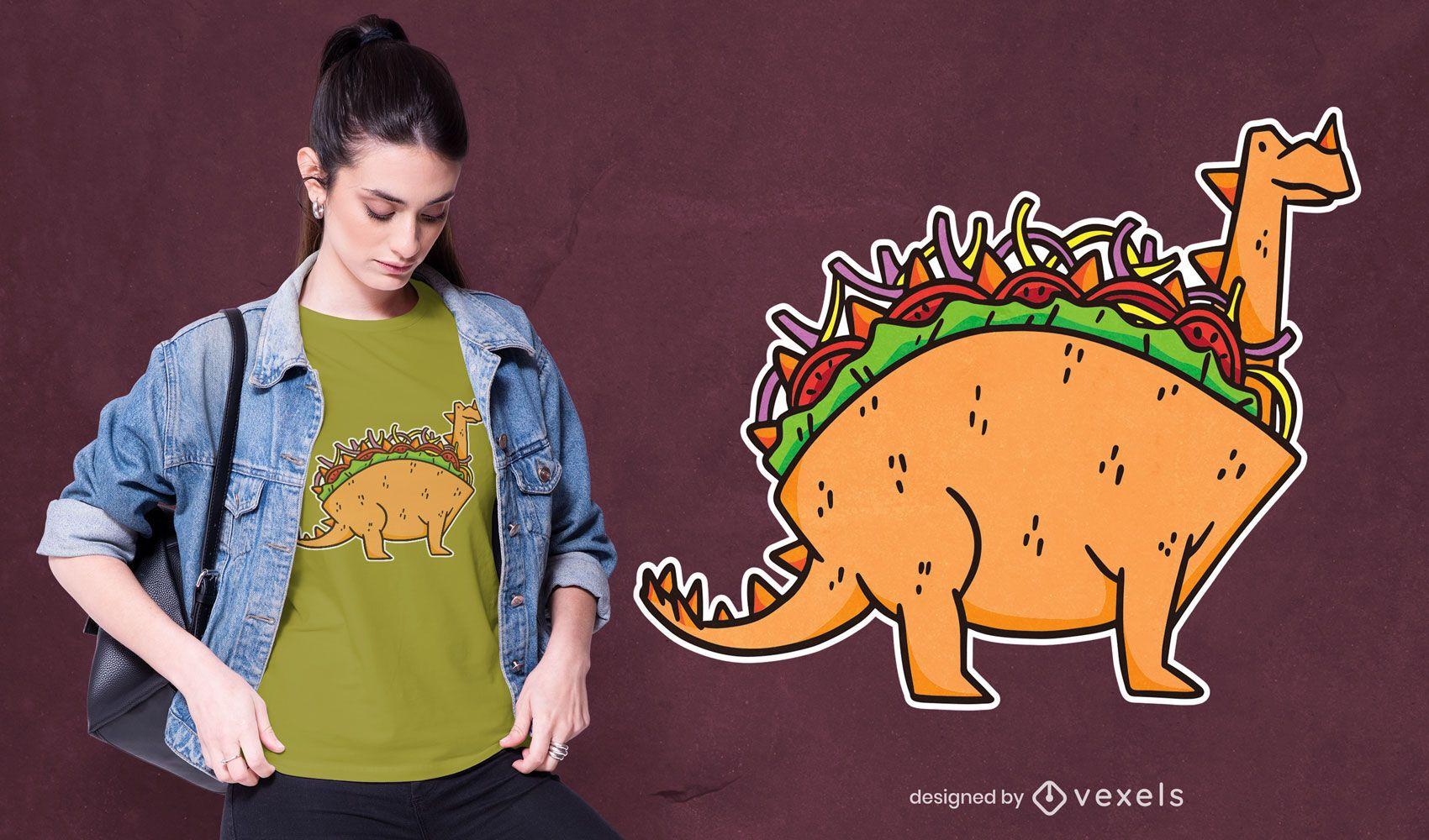 Dinosaur taco t-shirt design