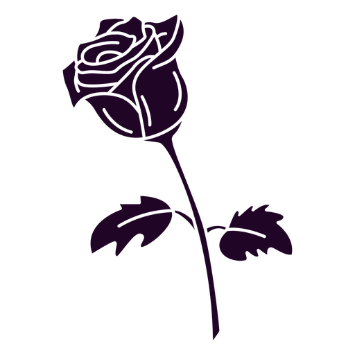 Single rose cut out