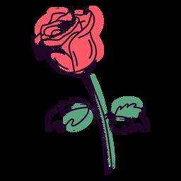 Red rose color stroke
