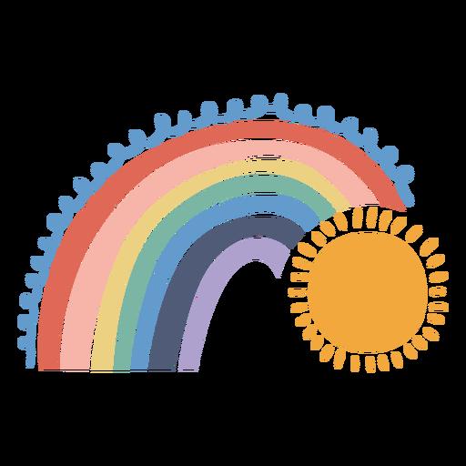 Rainbow and sun flat