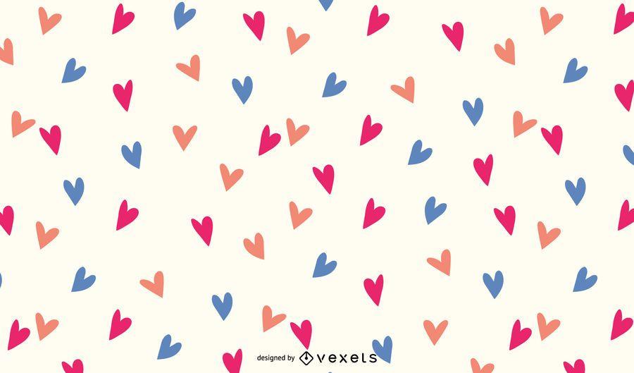 WALLPAPER HEART FREE VECTOR