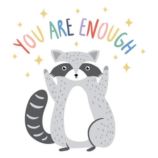 Racoon quote flat