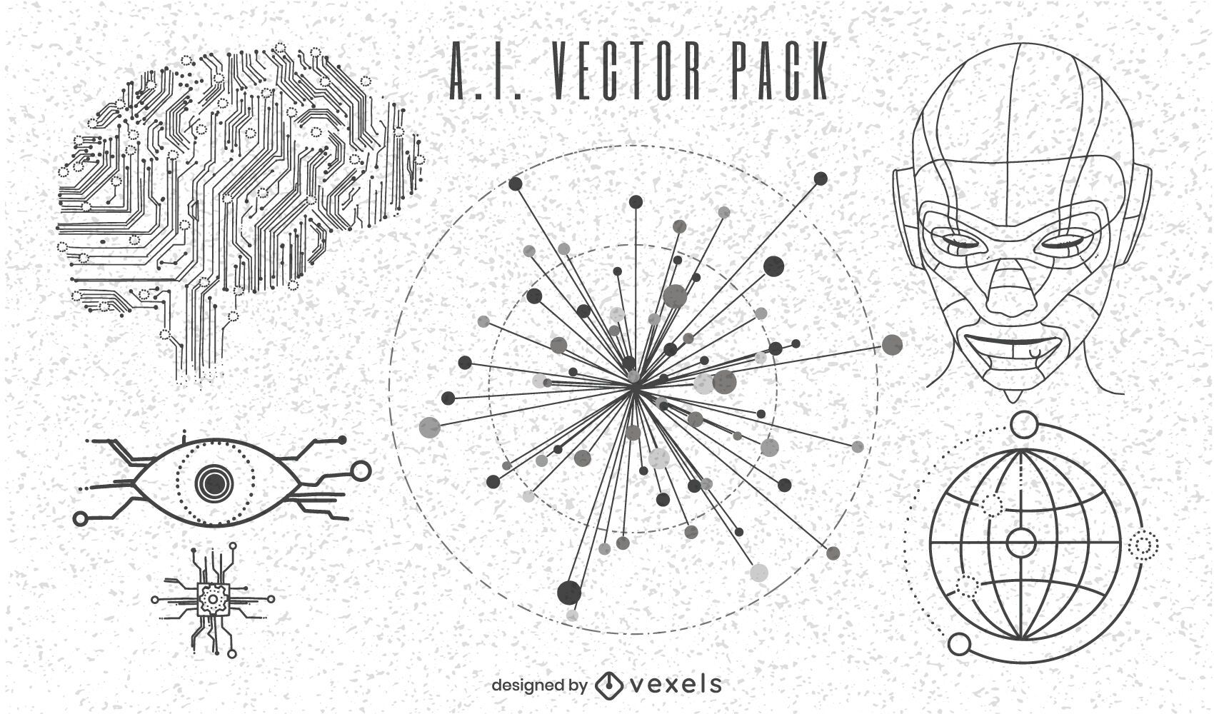 Artificial intelligence vector pack