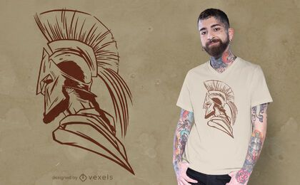 Spartan helmet side t-shirt design