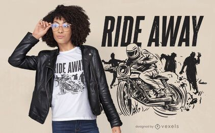 Design de camisetas para motociclistas zumbis