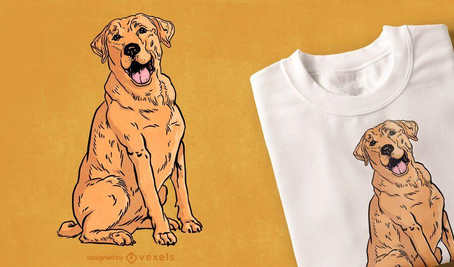 Design de t-shirt com ilustração de cão Labrador