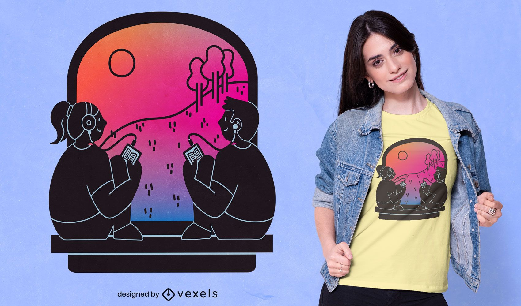 Design de camisetas para pessoas em audiolivro