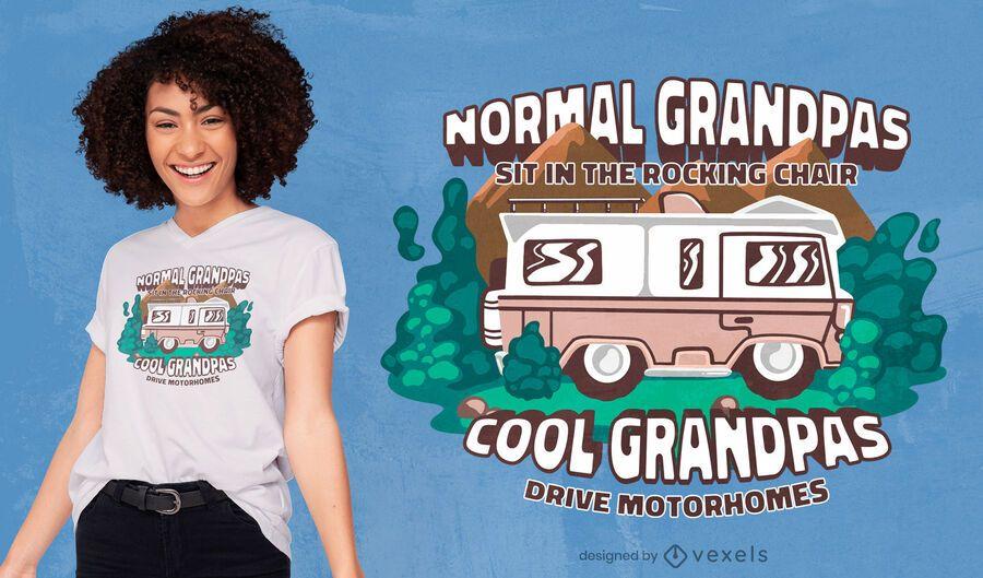 Diseño de camiseta de autocaravanas de abuelos.