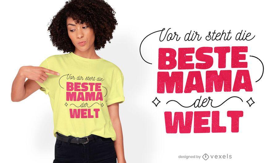 Beste mama quote t-shirt design