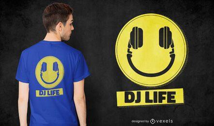 Diseño de camiseta dj life