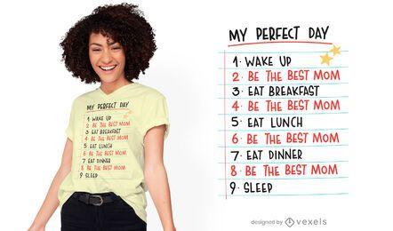 Design de t-shirt de rotina perfeito para o dia das mães