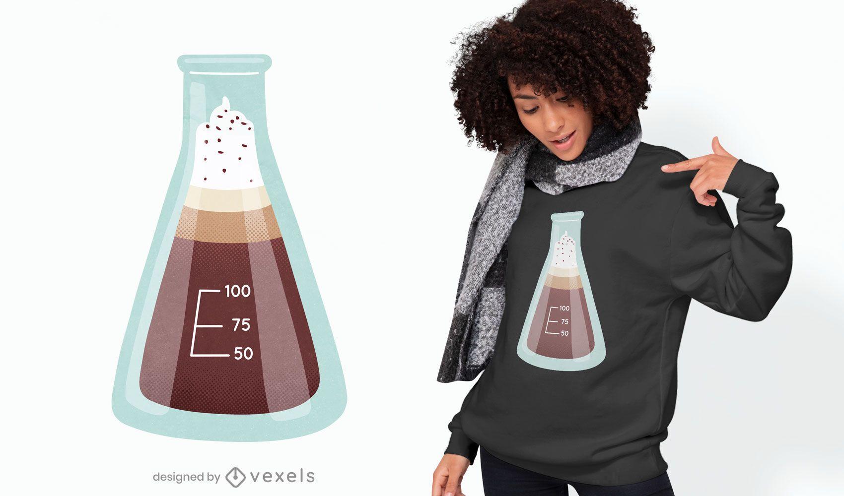 Design de t-shirt para jarro de química e bebida