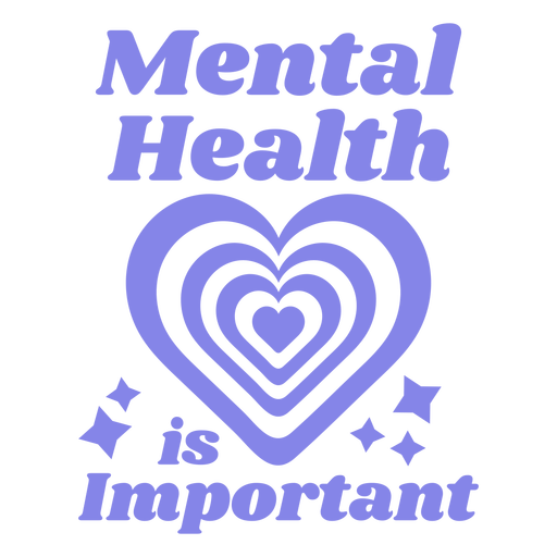 Mental health is important quote flat