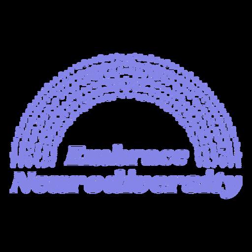 Embrace neurodiversity motivational quote filled stroke