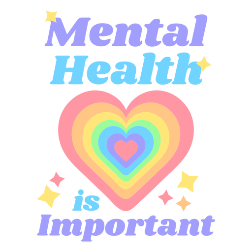 Mental health quote flat