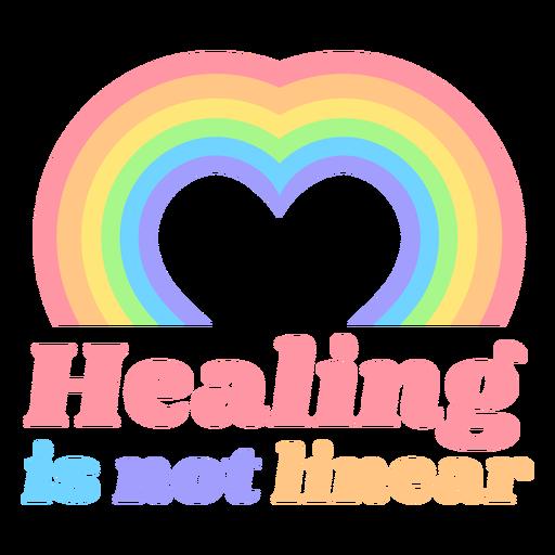 Rainbow hearts quote flat