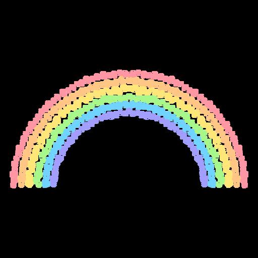 Hearts rainbow flat