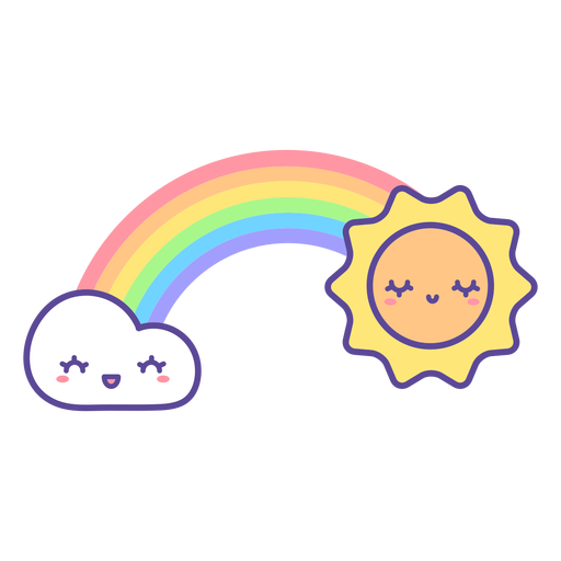 Happy sun and cloud rainbow