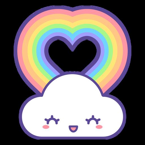Happy cloud heart rainbow