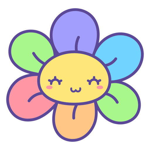 Cute colorful flower