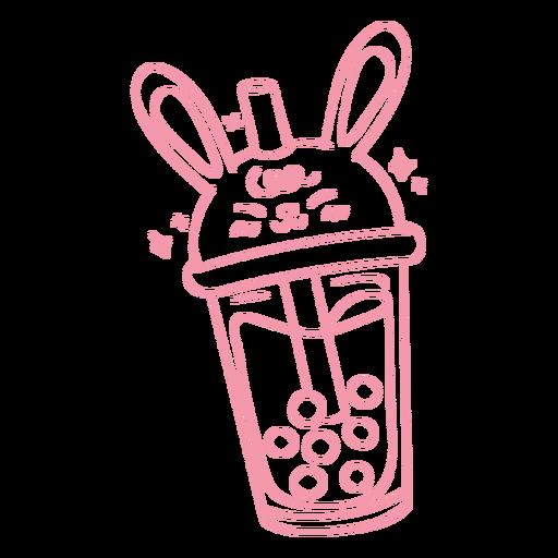 Bunny boba tea stroke