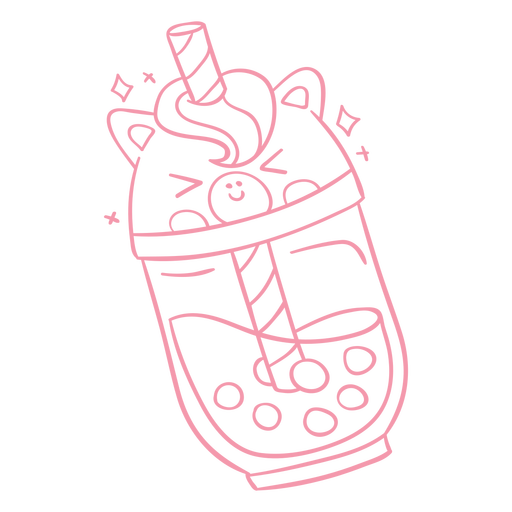 Bebidas-BobaTeaAnimales-GradientKawaii-Stroke-CR - 5