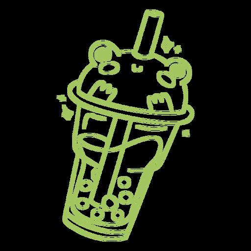 Frog boba tea stroke